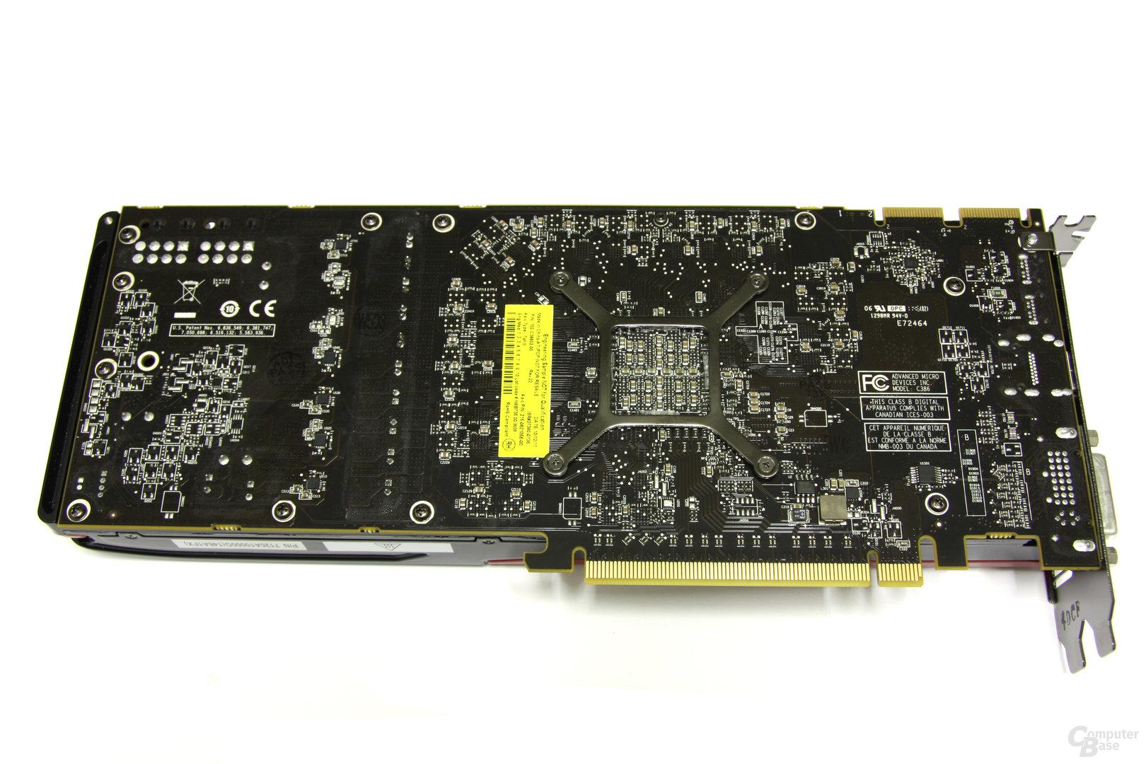Radeon HD 7950 Rückseite