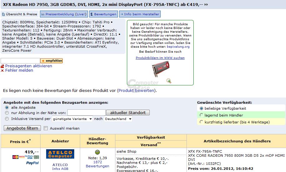 Radeon HD 7950 von XFX