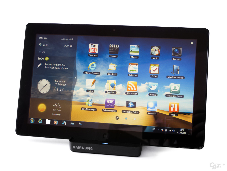 Samsung Serie 7 Slate: Touch-Oberfläche
