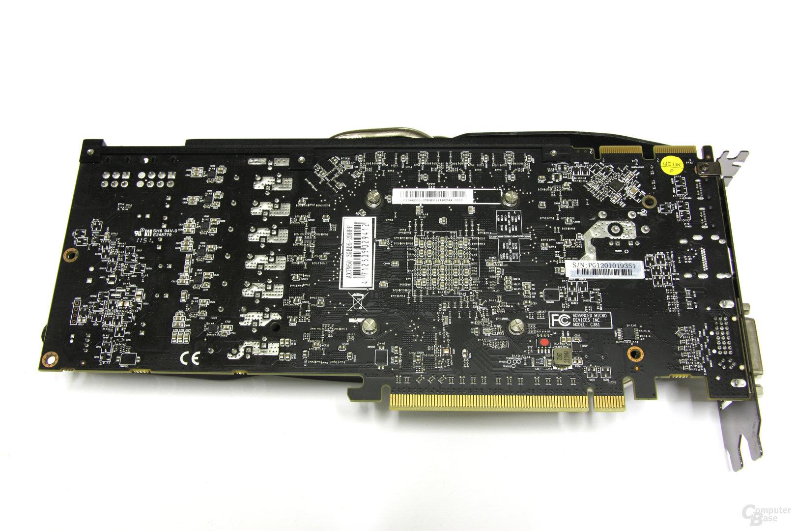 Radeon HD 7950 PCS+ Rückseite