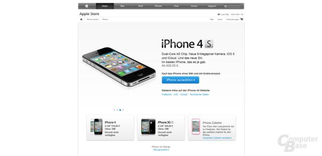 Nur noch das iPhone 4S ist lieferbar
