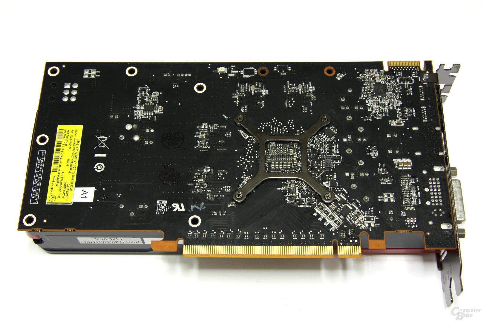 Radeon HD 7770 Rückseite