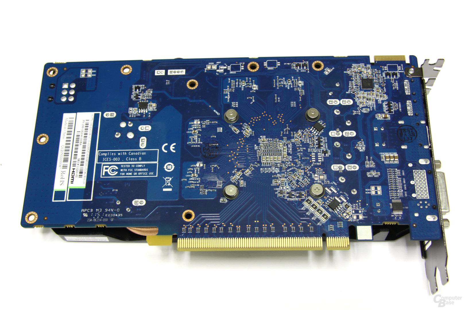 Radeon HD 7770 OC Rückseite
