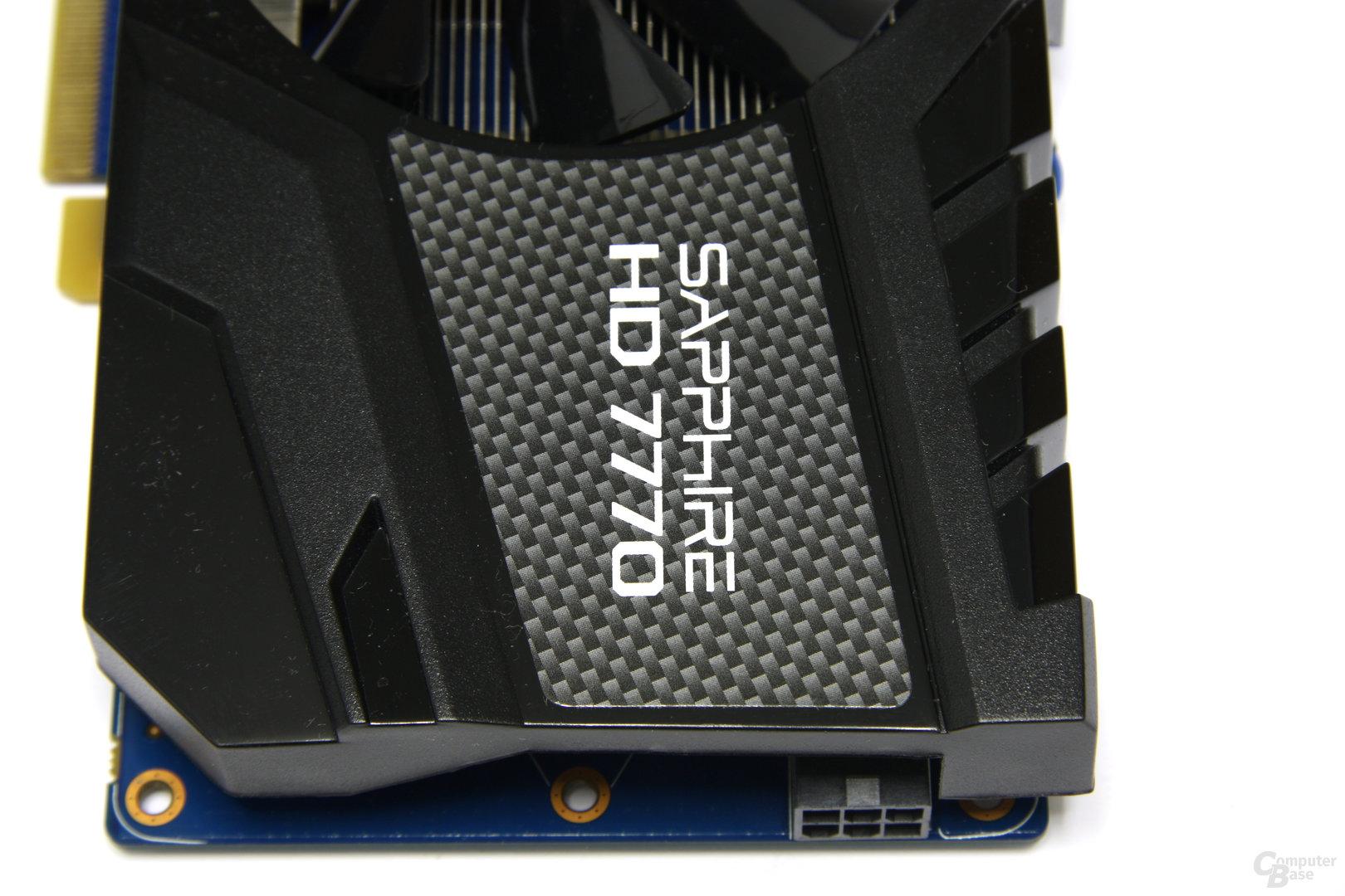 Radeon HD 7770 OC von oben
