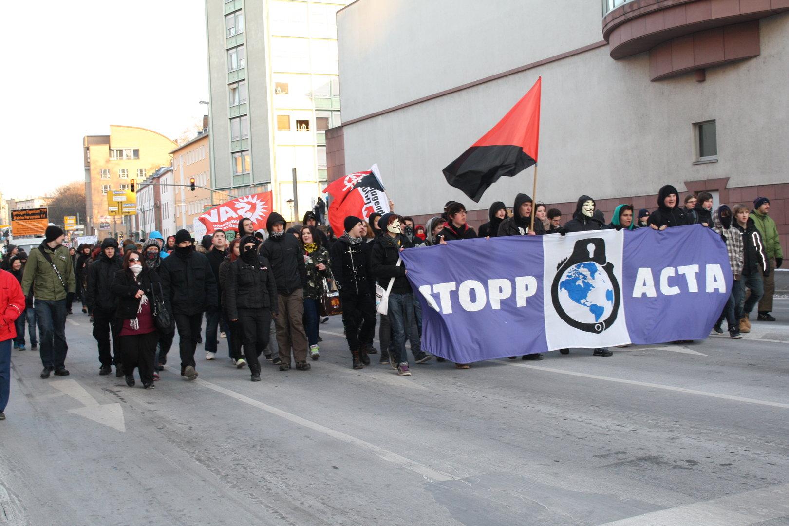 Impressionen der Demonstration in Frankfurt a.M.