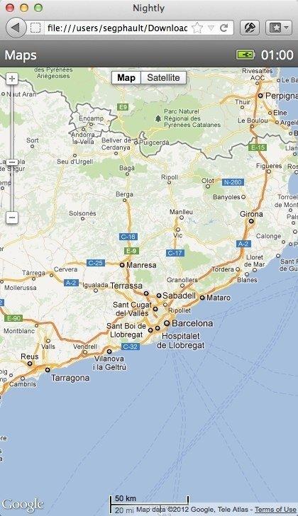 Firefox OS - Maps