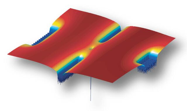 Computermodell des Ein-Atom-Transistors | Quelle: Purdue University