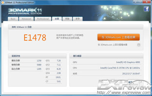 Core i5-3570K im 3DMark 11 Entry