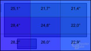 Asus X53SK: Temperatur im Leerlauf