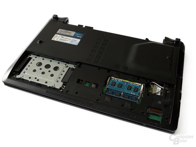 Asus X53SK: Festplatte und RAM