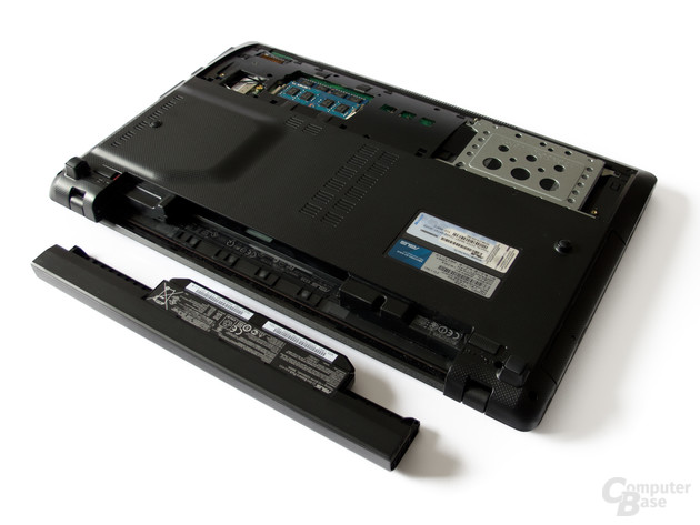 Asus X53SK: Unterseite mit Akku