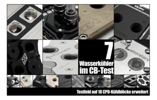 Sieben Wasserkühler im CB-Test