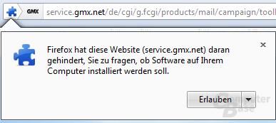 Firefox-Warnung