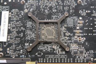 Radeon HD 7850 GPU-Rückseite
