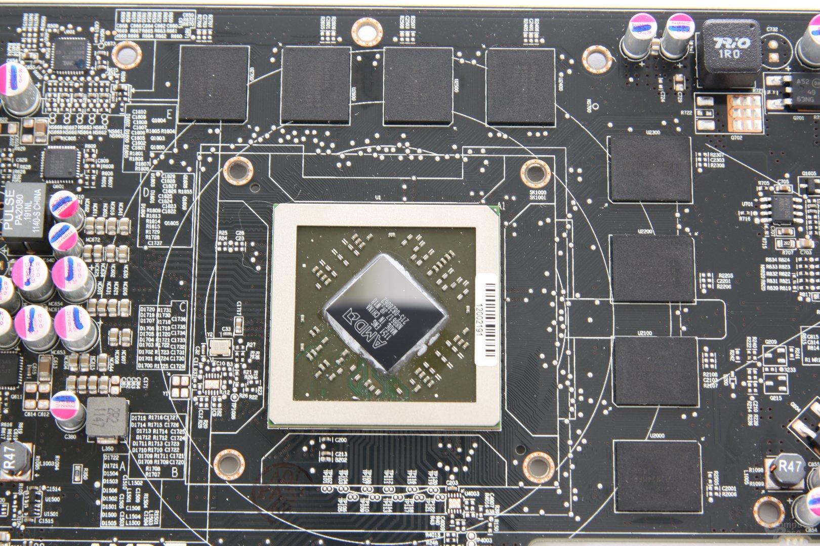 Radeon HD 7850 GPU und Speicher