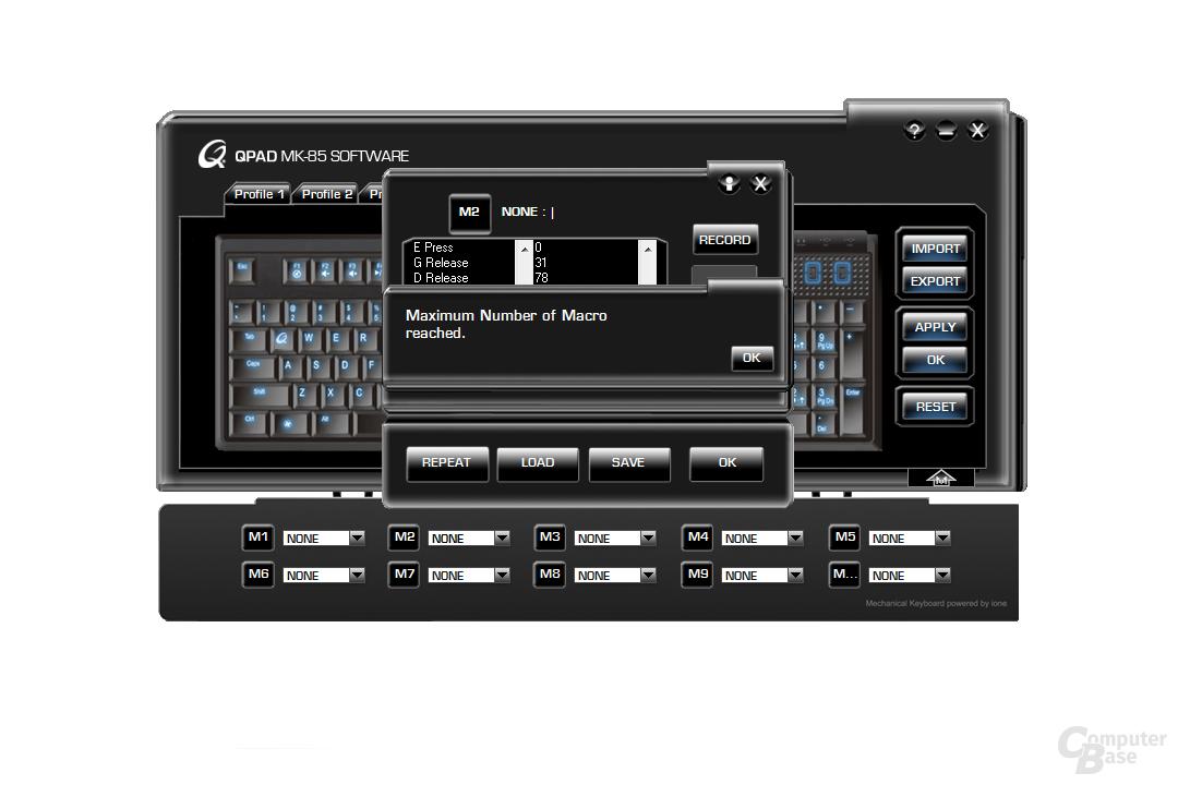 MK-85: Makro- und Profilsoftware