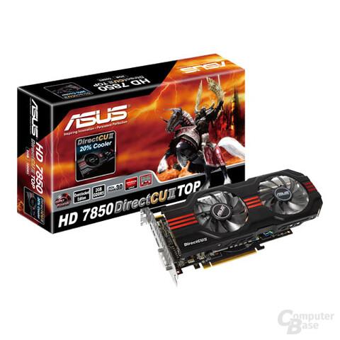 Asus Radeon HD 7850 mit Verpackung