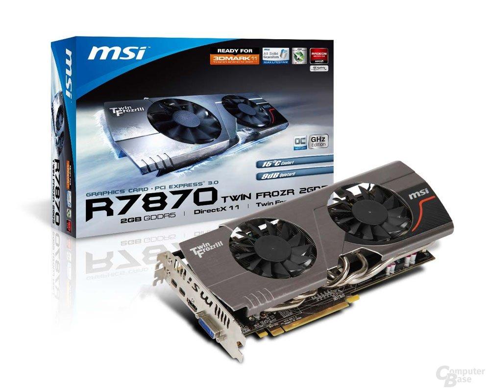 MSI Radeon HD 7870 mit Verpackung