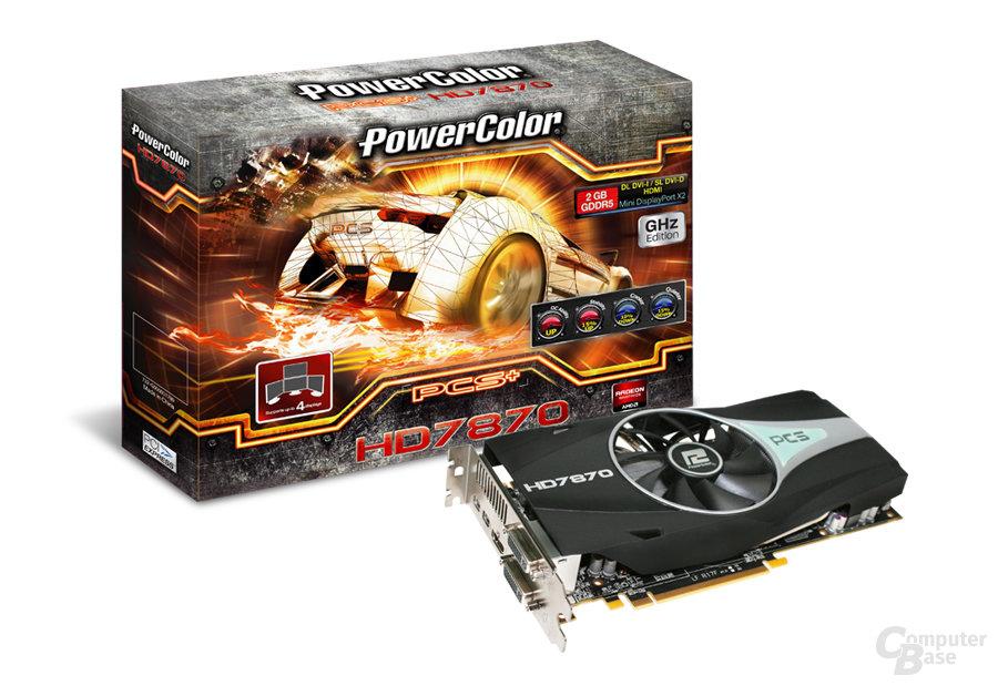 PowerColor Radeon HD 7870 PCS+ mit Verpackung