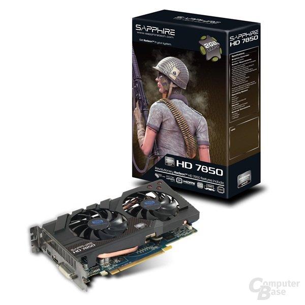 Sapphire Radeon HD 7850 mit Verpackung