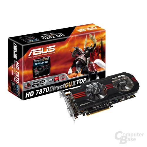 Asus Radeon HD 7870 mit Verpackung