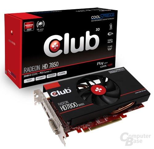 Club3D Radeon HD 7850 CS-Edition mit Verpackung