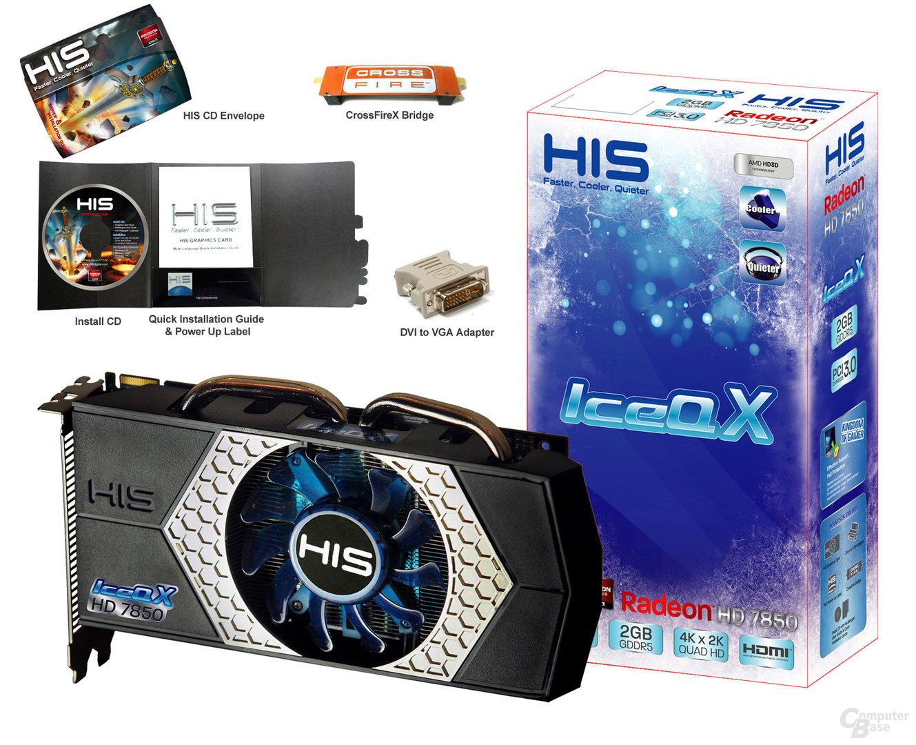 HIS Radeon HD 7850 mit Verpackung