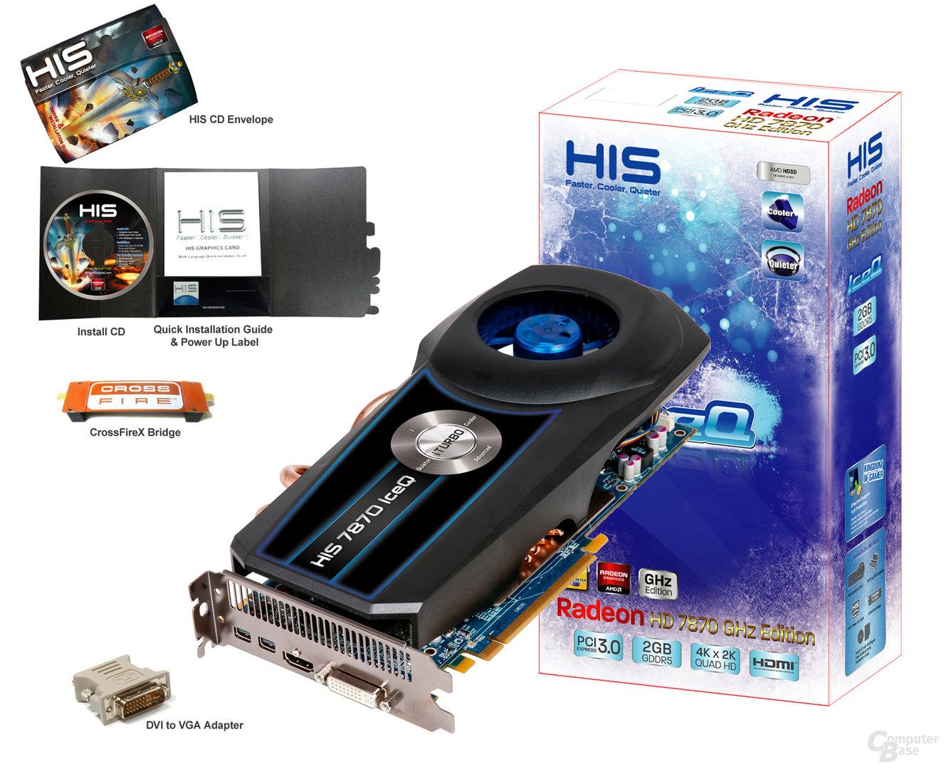 HIS Radeon HD 7870 Turbo mit Verpackung