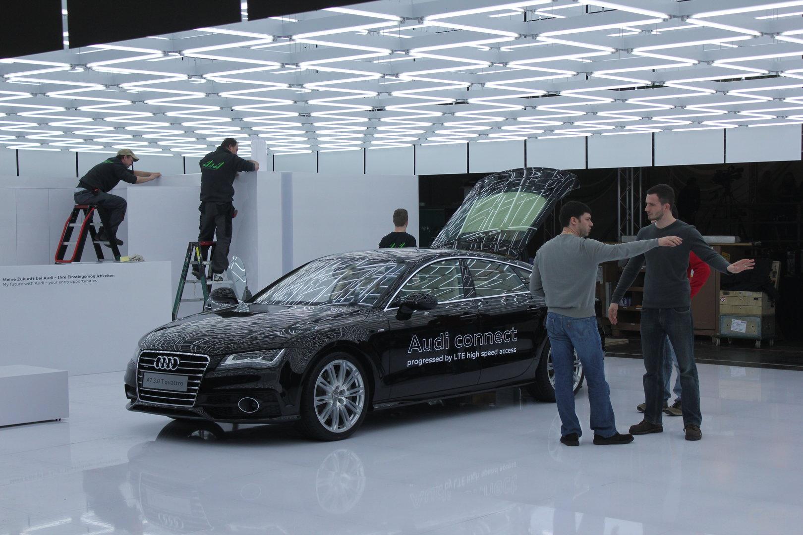Grelles Licht bei Audi