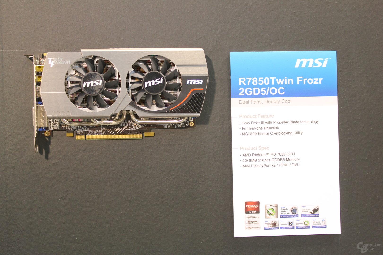 MSI R7850 Twin Frozr2 GD5/OC
