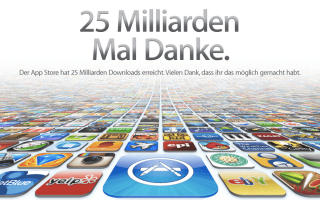 25 Milliarden Downloads im App Store