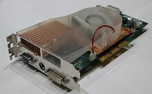 Bild - Tomshardwareguide - Riesen Kühler auf der GeForce FX Referenzkarte 2