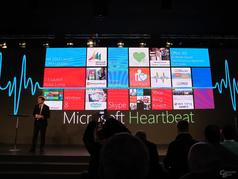 "Microsoft auf der CeBIT 2012: ""Heartbeat"""