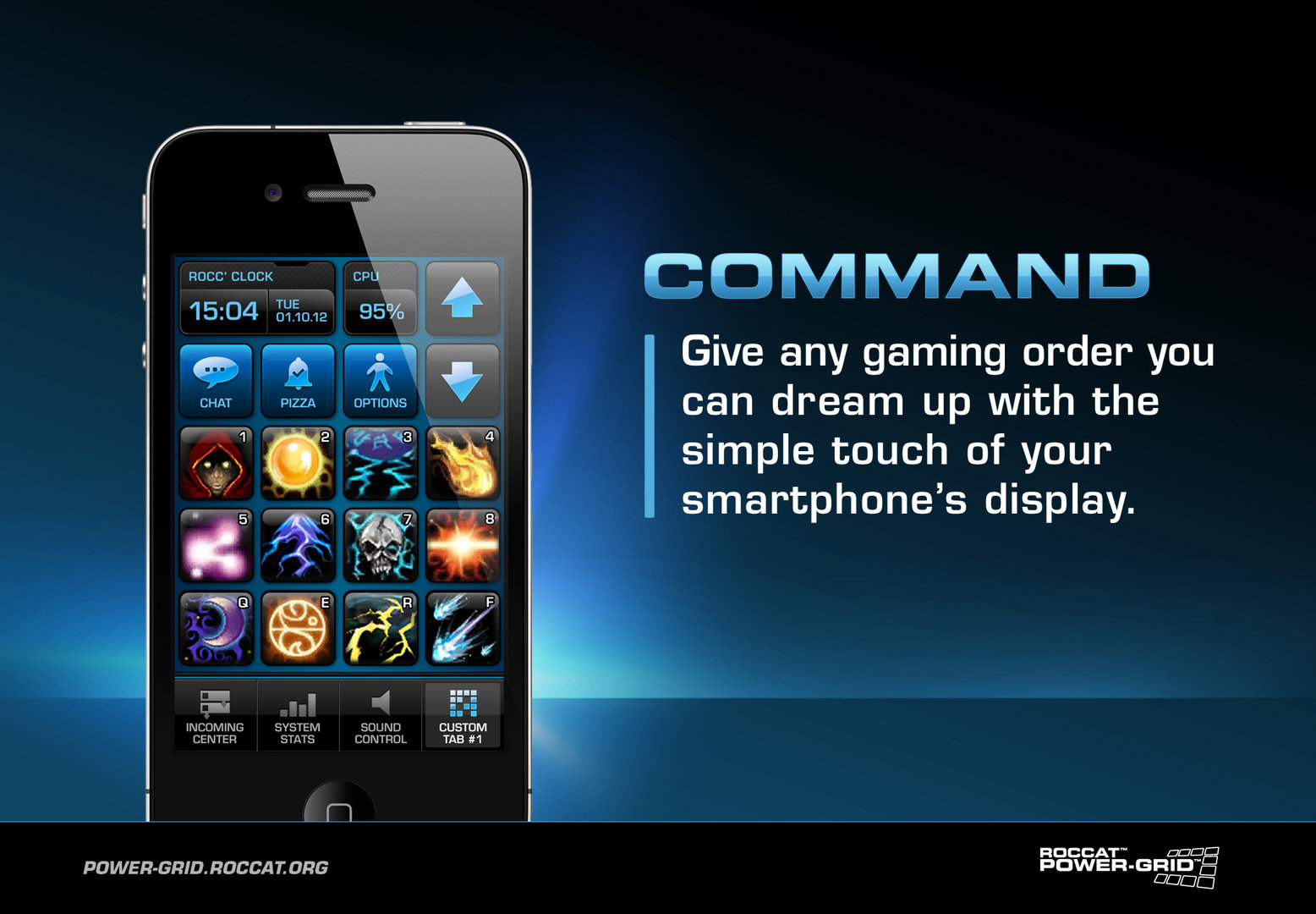 """Power-Grid-Tab """"Command"""""""
