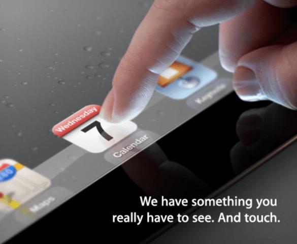Einladung zur Präsentation des iPad 3