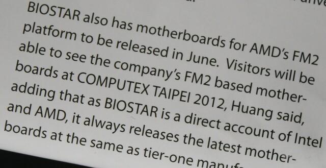 Biostars Sockel-FM2-Mainboards ab Juni