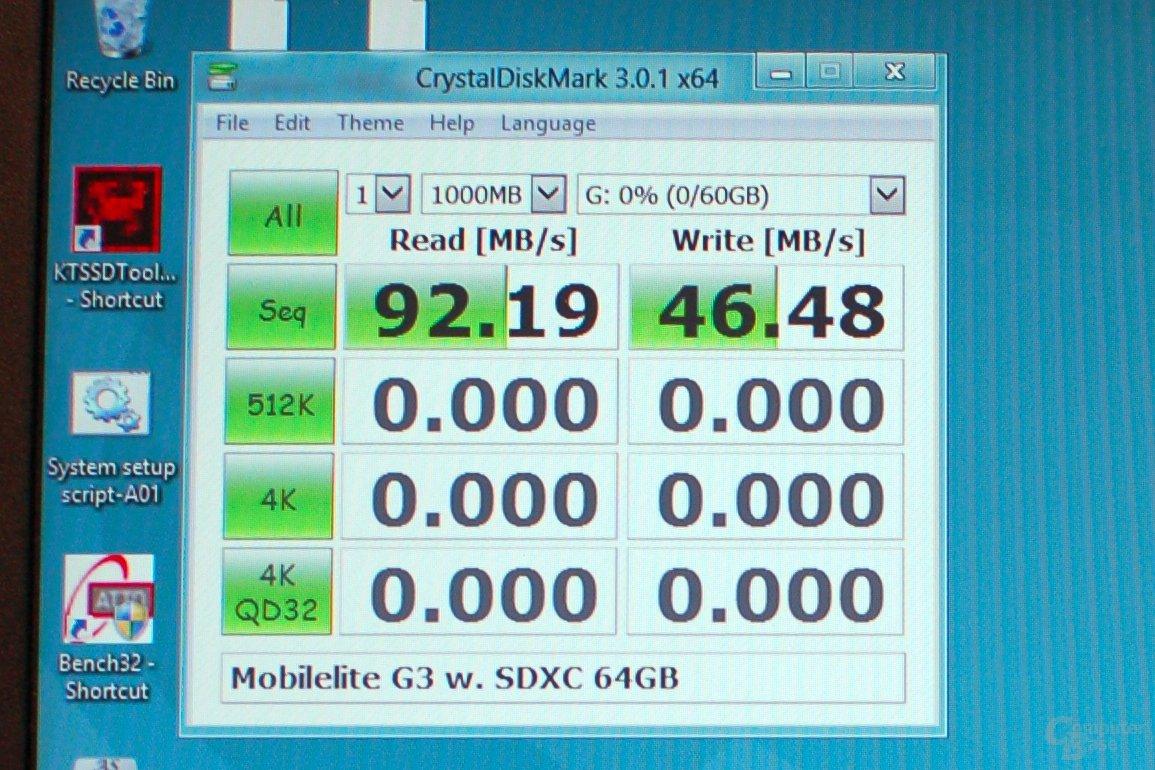 CrystalDiskMark Kingston MobileLite G3
