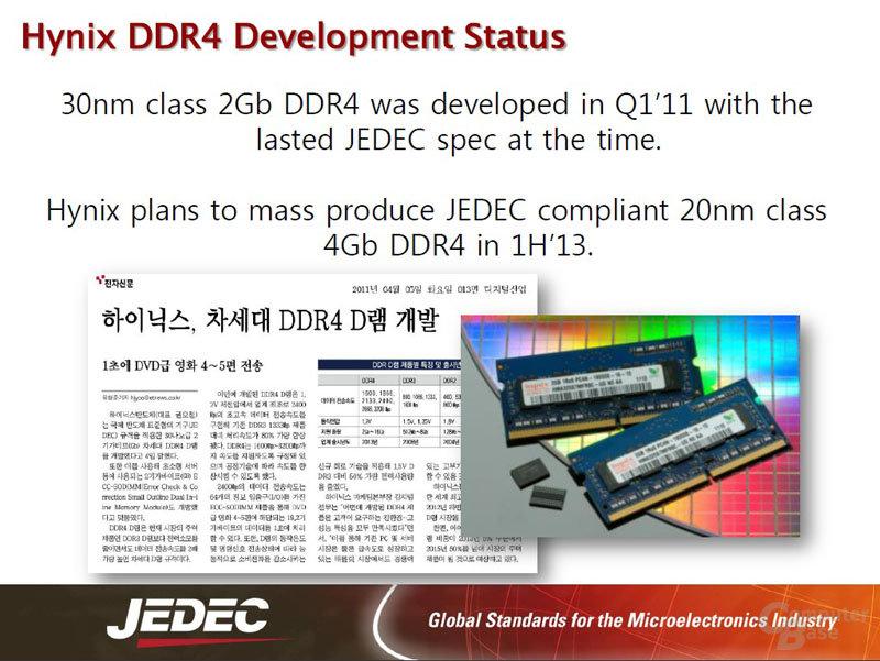 DDR4 ab 1H/2013 in Massenproduktion