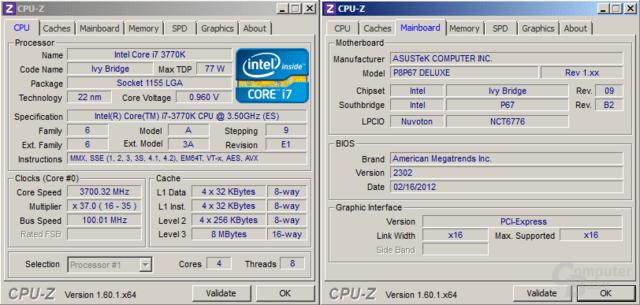 """""""Ivy Bridge"""" auf P67-Mainboard"""