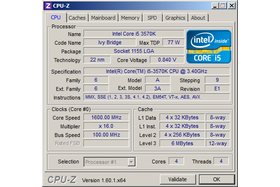 Intel Core i5-3570K im Idle (undervoltet)