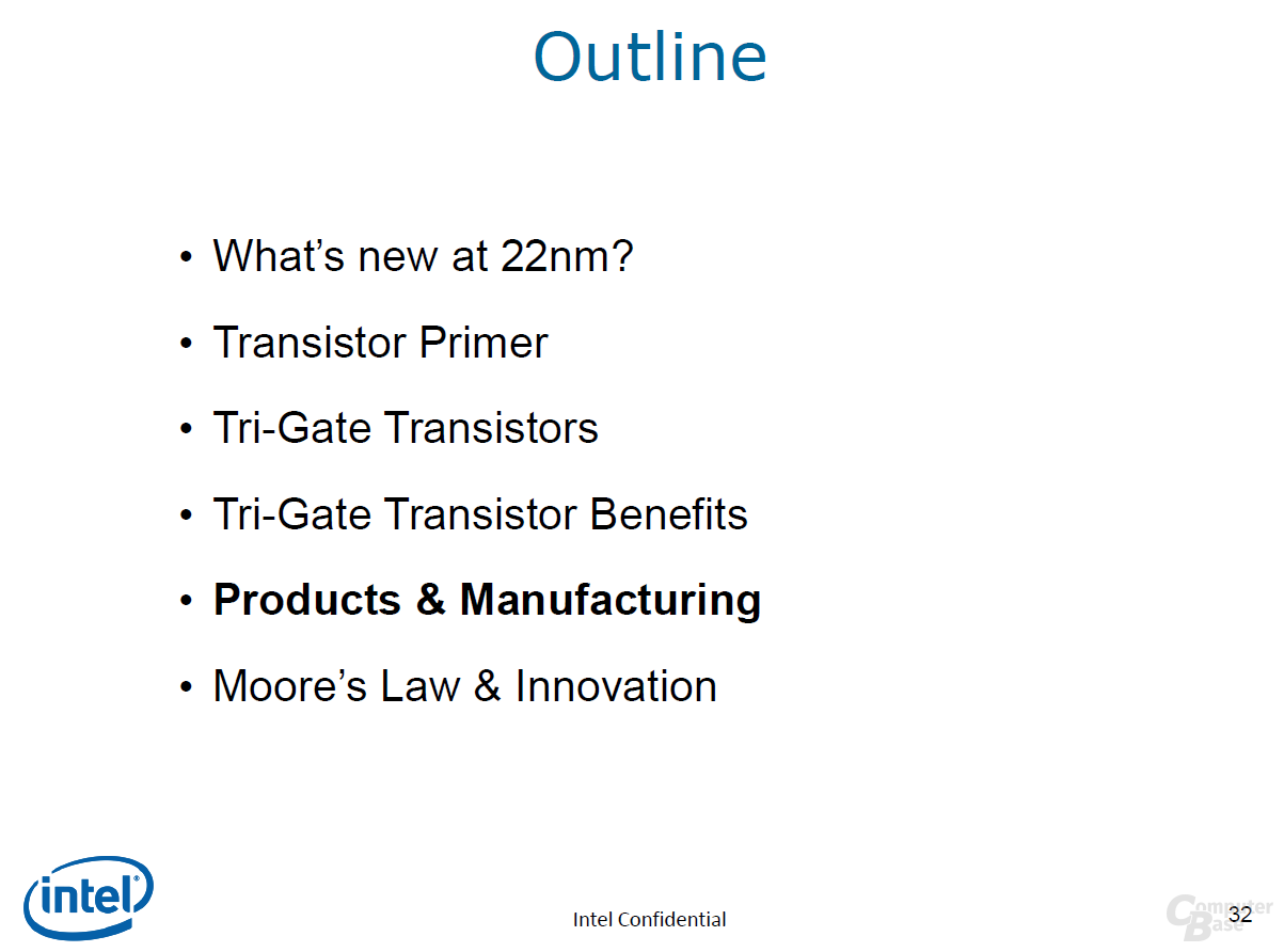 Agenda Punkt 5 – Produkte & Fertigung