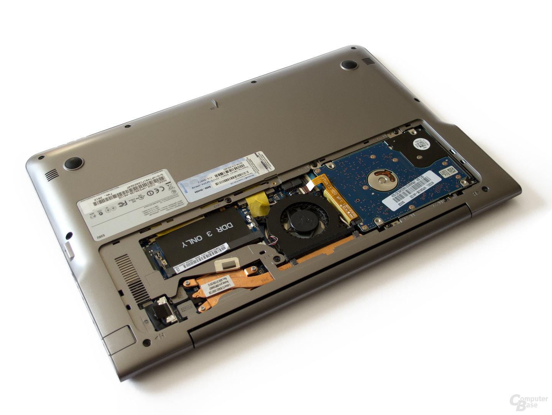 Samsung 530U3B: RAM und Festplatte