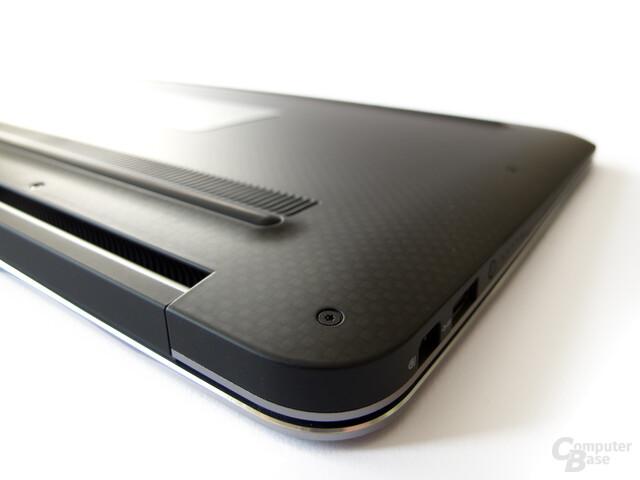 Dell XPS 13: Unterseite aus Kohlefaser