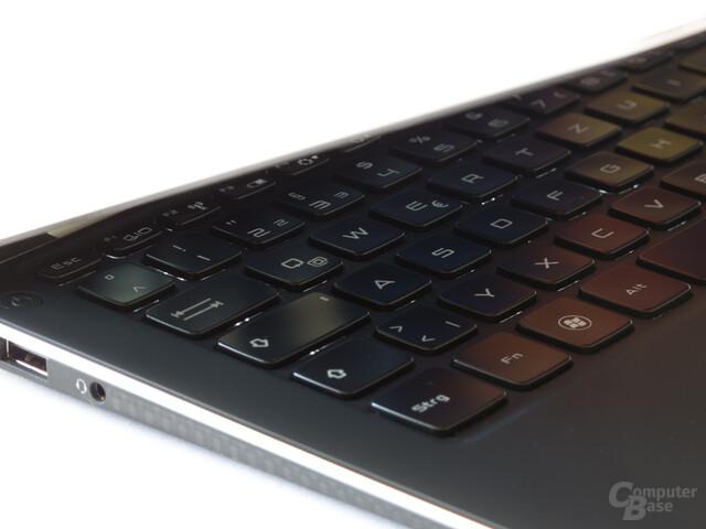 Dell XPS 13: Beleuchtete Tastatur