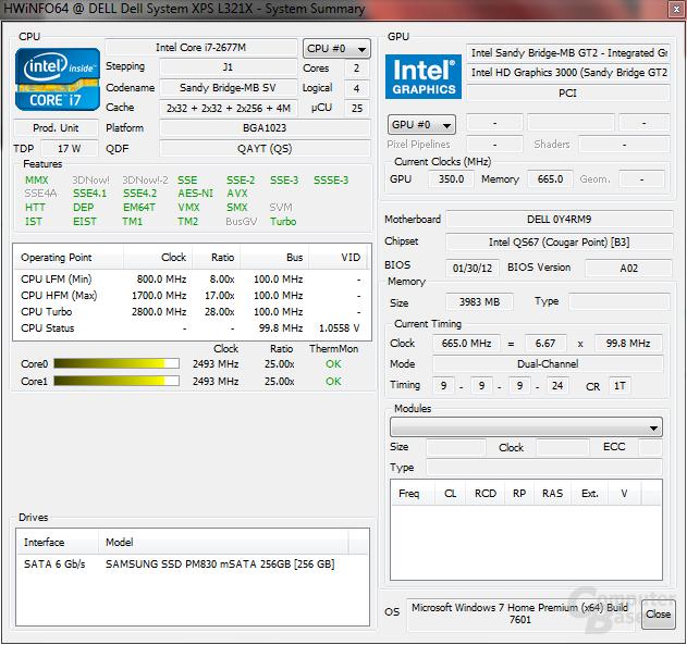 Dell XPS 13: System unter Last