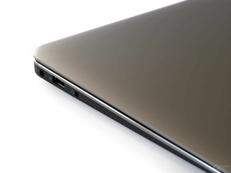 Dell XPS 13: Anschlüsse links