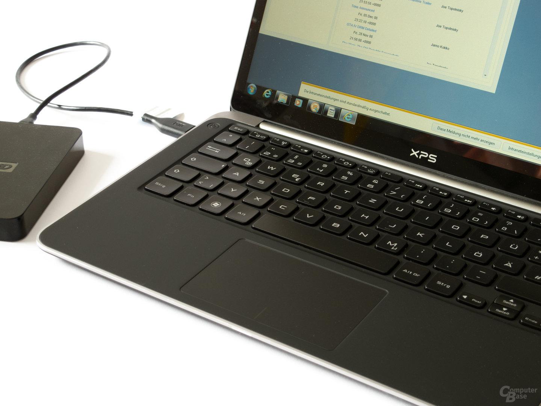 Dell XPS 13: Tastatur und Touchpad