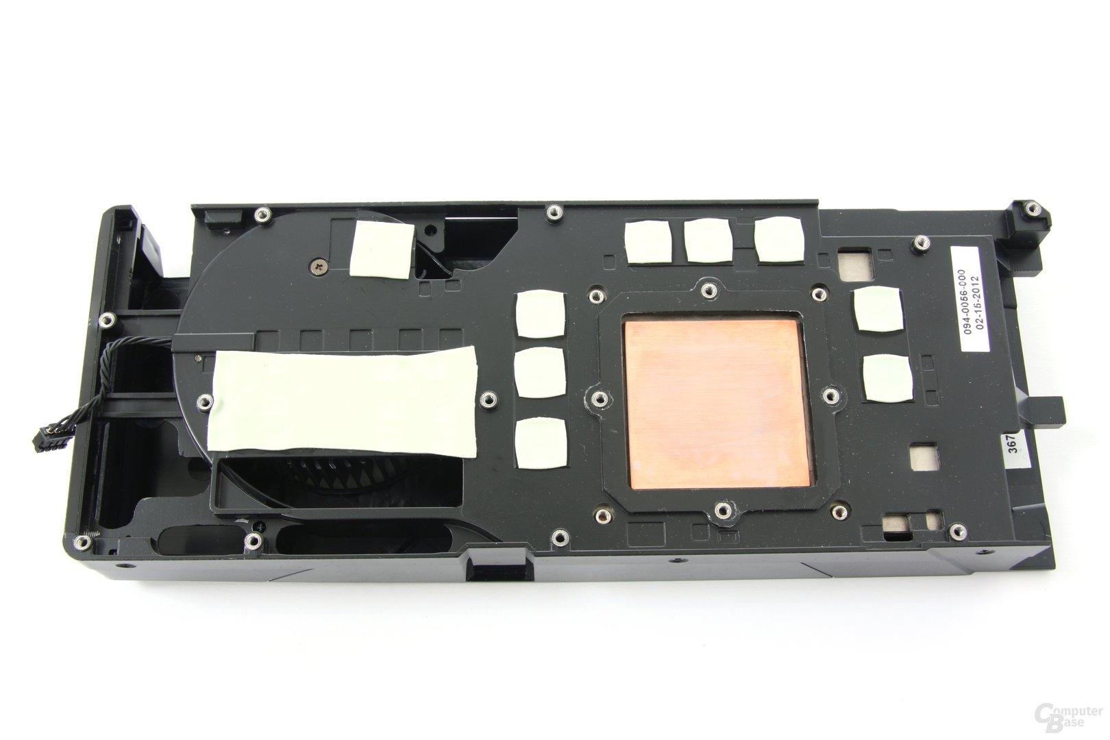 GeForce GTX 680 Kühlerrückseite