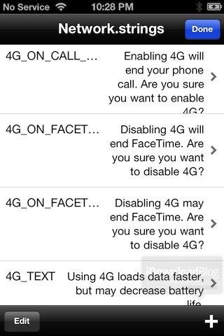 iOS 5.1: Hinweise auf LTE im Programmcode