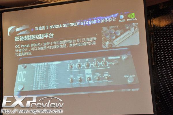 OC-Panel für die Galaxy GTX 680 HOF